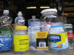 photo of empty PETE bottles