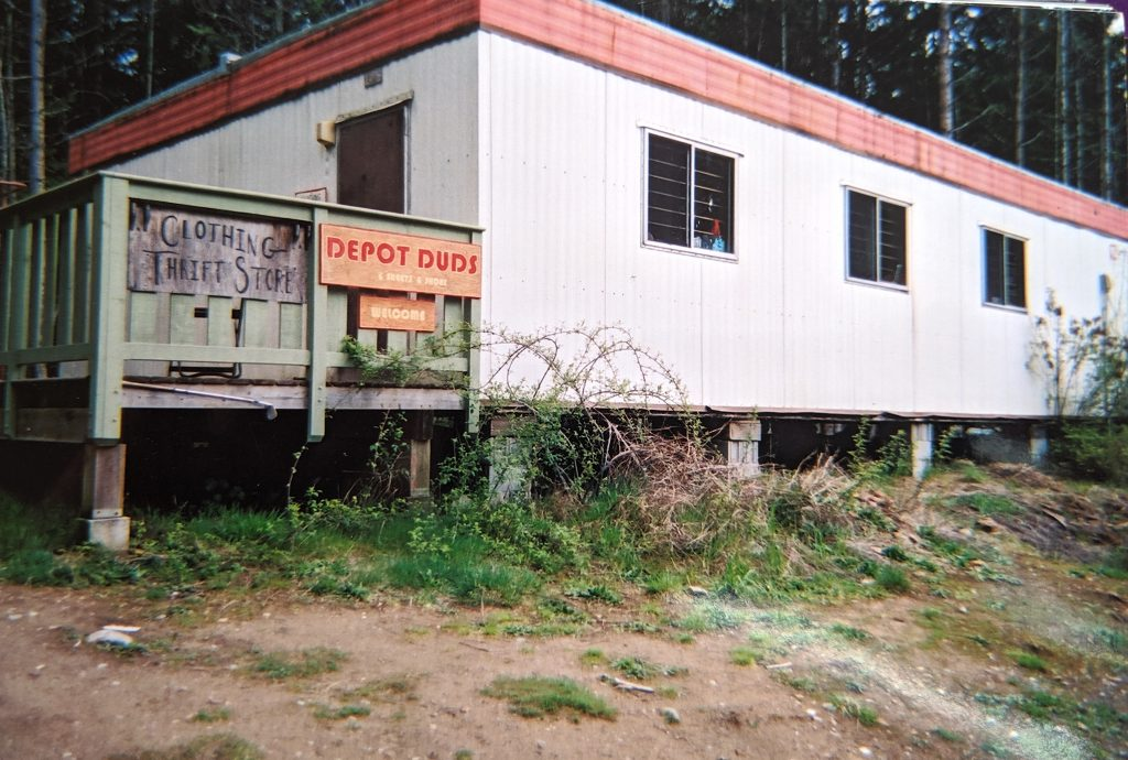 "GIRO's ""Depot Duds"" clothing and thrift store"